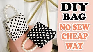 DIY PURSE BAG // Cute Dots HandBag Tutorial No Sew Fantastic Idea