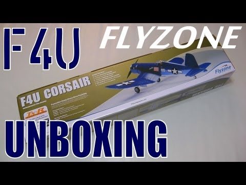 FlyZone F4U Corsair Select Scale Tx-R Unboxing in HD by RCINFORMER