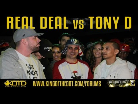 KOTD - Rap Battle - Real Deal vs Tony D