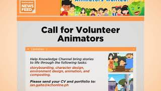 Knowledge Channel News Feed   Call for Volunteer Animators