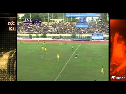 Burma's Yadanarbon FC and Tajikistan's FC Vakhsh play AFC President's Cup semi-final match in Thuwanna Youth Training Center Stadium, Rangoon, Burma on 3:30 ...