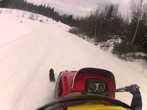 Great North Woods Vintage Snowmobile Race Youth 10-13 Pittsburg, New Hampshire Final