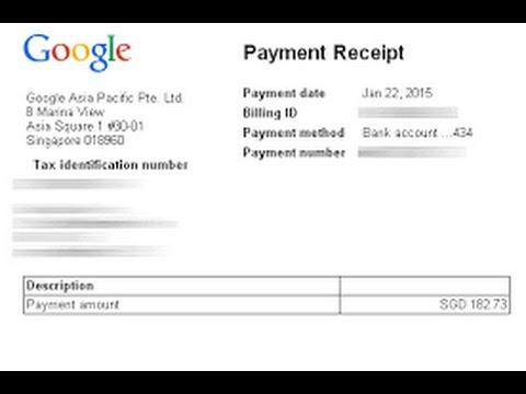 Google adsense Payment Proof 2017