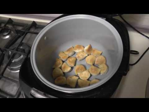 ∆ареные пельмени в мультиварке Polaris 0517. Fried dumplings in Multicookings