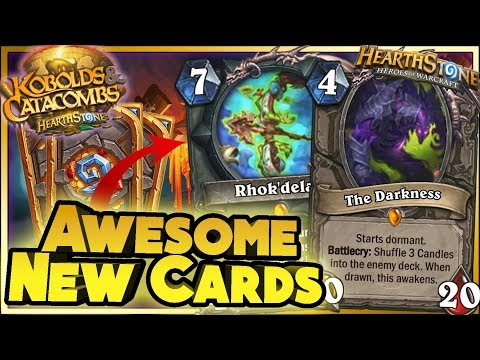 Hearthstone - AWESOME NEW CARDS WTF Moments - Kobolds and Catacombs Funny Rng Moments