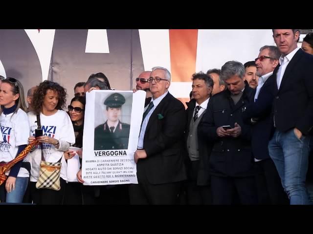 Matteo Salvini Ricorda Oriana Fallaci - Manifestazione Renzi a Casa!