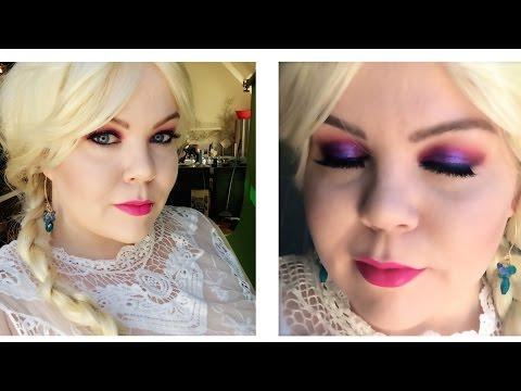 Queen Elsa Frozen Inspired Makeup Tutorial disney