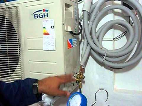 instalación de aire acondicionado split r410A presión herramientas