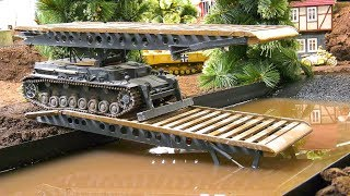 RC MODEL SCALE BRIDGE LAYER TANK IV IN DETAIL AND DEMONSTRATION!! *RC MILITARY VEHICLES