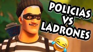 VUELVE 👩🎤 LADRONES vs POLICIAS 👮♂️ ! PERSONALIZADAS FORTNITE