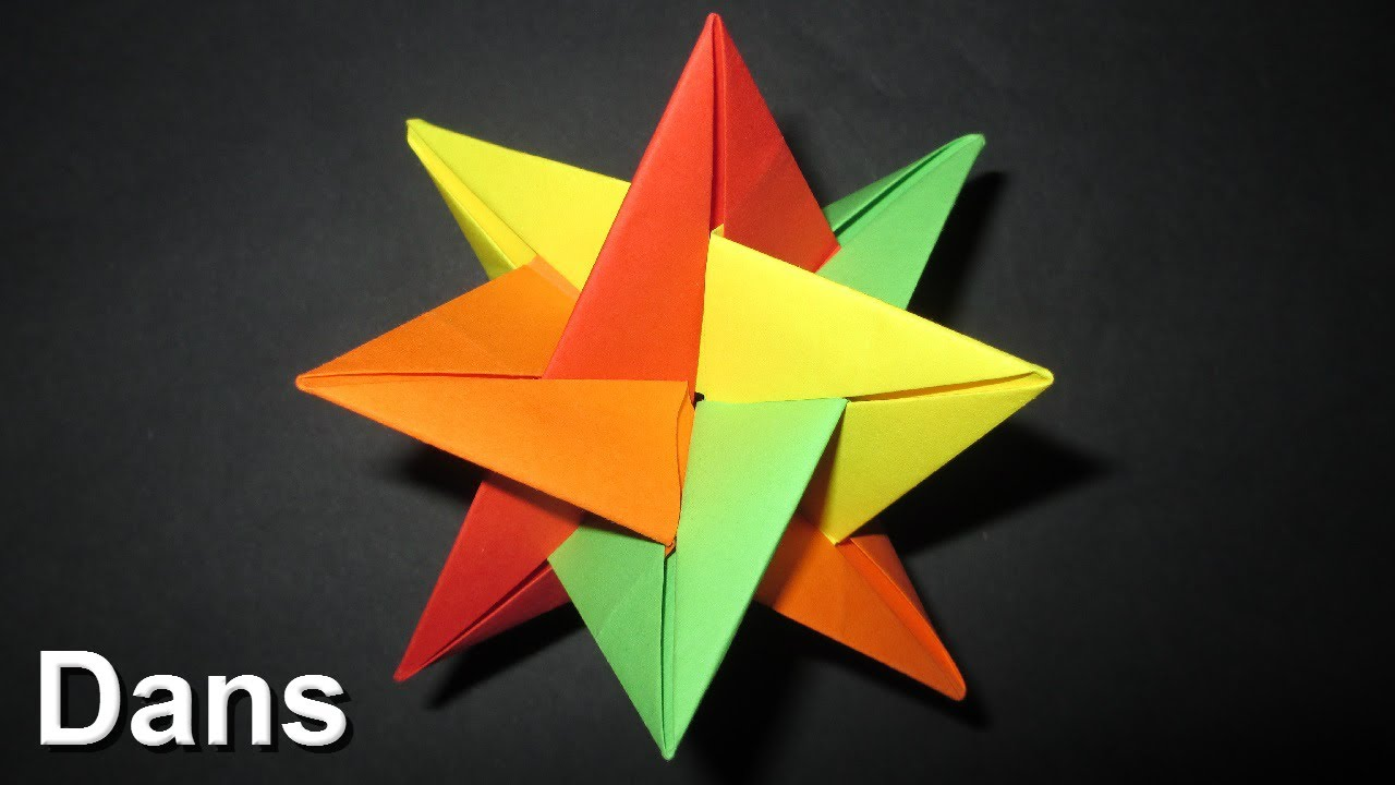 Origami 3d star christmas decoration idea 39 s for 3d star decoration