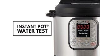 Instant Pot Water Test