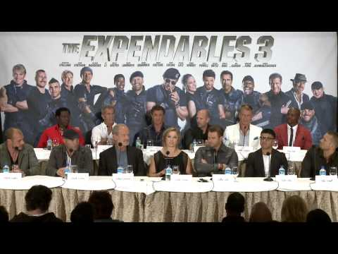 The Expendables 3: Press Conference 1 - Sylvester Stallone, Mel Gibson, Jason Statham