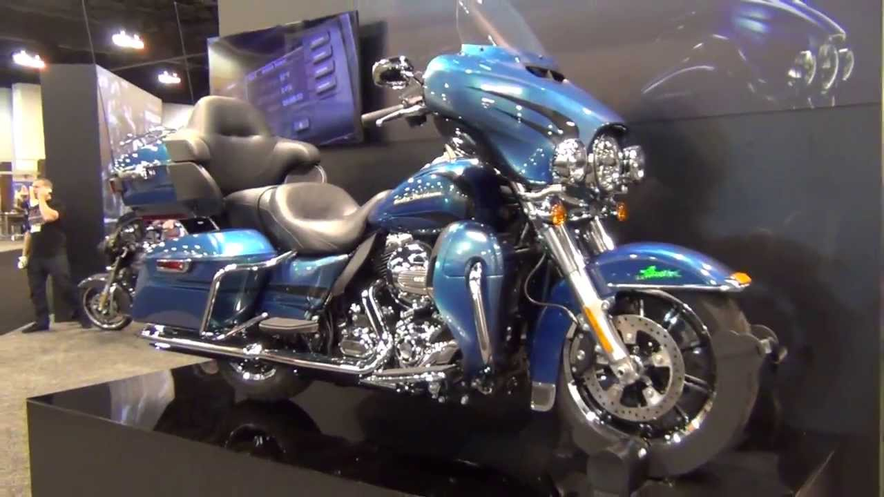2014 Electra Glide limited Daytona Blue Pearl - YouTube