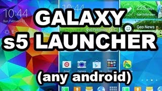 S5 Launcher APK on any android