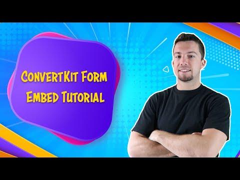 Convertkit Tutorial - Embed an Optin Form to Blog Post
