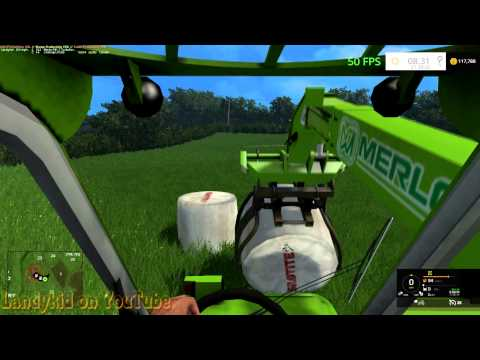 Farming Simulator 15 on Coldborough why is Stacking in round bales such a pain in the ass