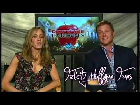 Felicity Huffman And Doug Savant On News10 30.9.11