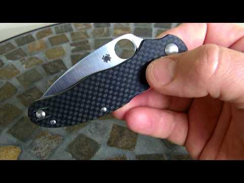 Spyderco Caly 3 Carbon Fiber with ZDP-189 steel blade