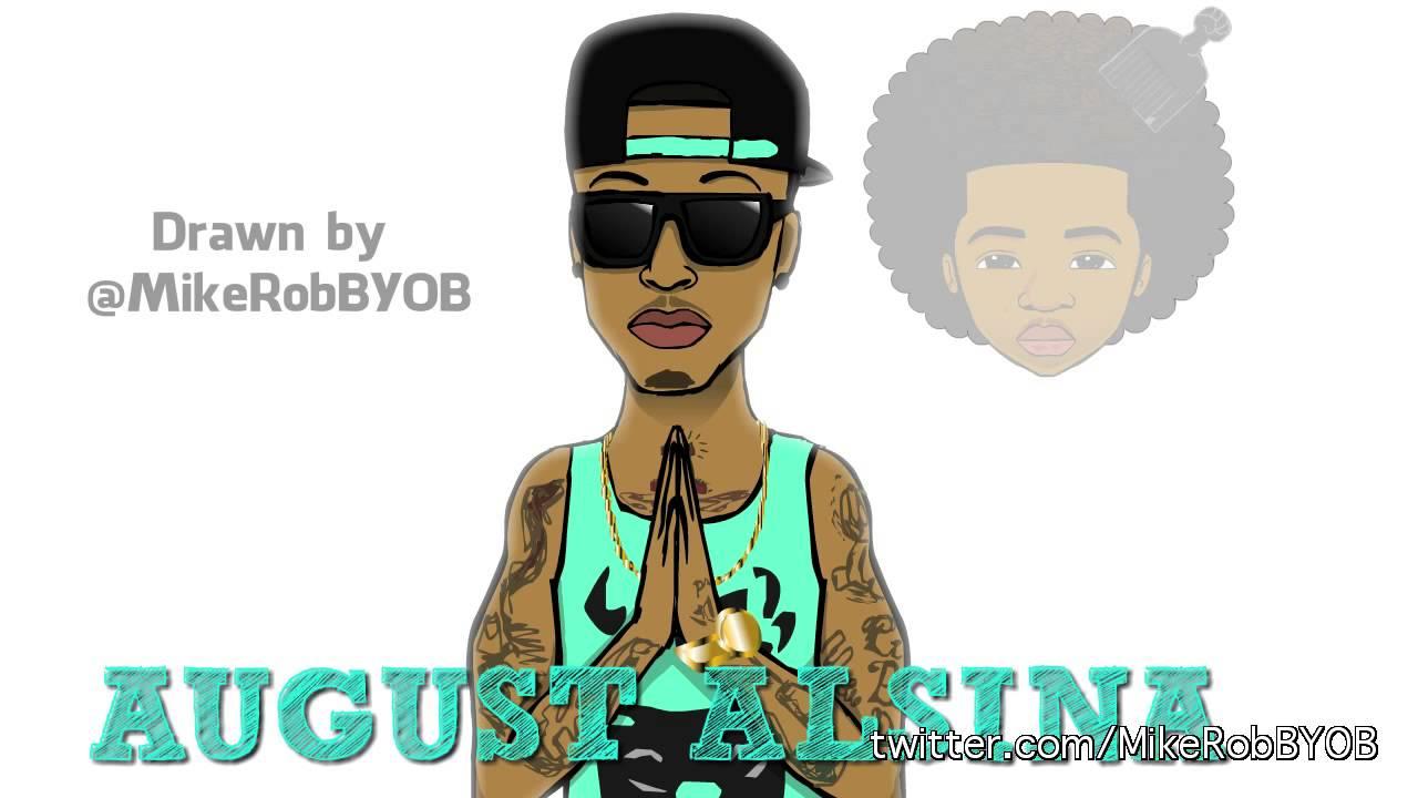 AugustAlsina speed cartoon drawing by @MikeRobBYOB - YouTube