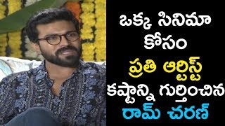 Mega Power Star Ram Charan About All Artistes In his Film  | Vinaya Vidheya Rama