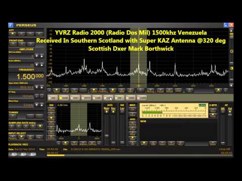 MW Dxing YVRZ Radio 2000 (Radio Dos Mil) 1500khz Venezuela Received In Scotland With Perseus SDR