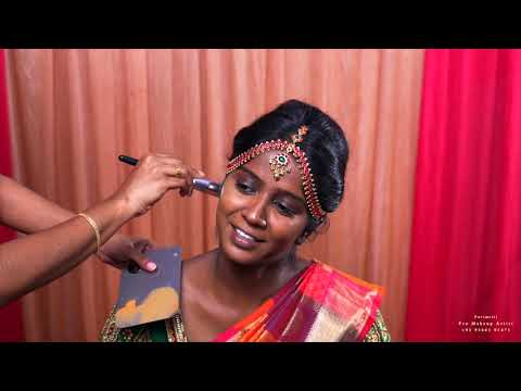 TRADITIONAL SOUTH INDIAN BRIDAL MAKEUP FOR DARK SKIN / RICH DUSKY SKIN WITHOUT CHANGING SKIN TONE