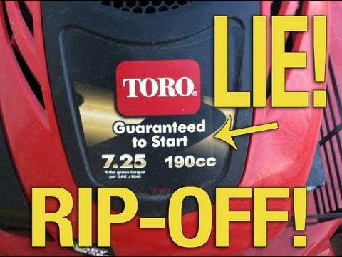Toro Lawnmowers - Review of why Toro Lawnmowers SUCK!