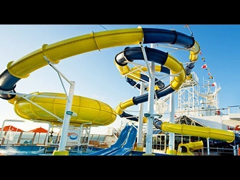 Climbing Up The Water Slide On Carnival Dream Youtube