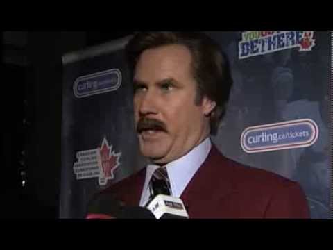 Ron Burgundy on Winnipeg, curling, suits, and more.
