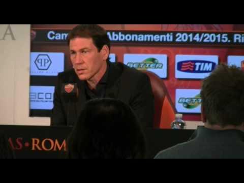 Conferenza Stampa Rudi Garcia pre Sassuolo - Roma INTEGRALE