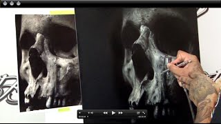 "Airbrushing Skull Panel ""The Art of Focus"" Realistic Airbrushing w/ Cory Saint Clair"