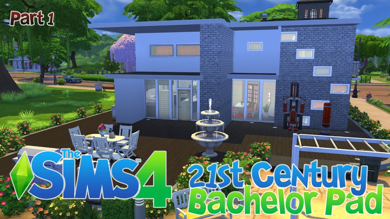 Sims 4 House Building 21st Century Bachelor Pad Part 1
