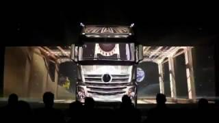 The New Dimension Mb. Actros 1851 MP4-Video Mapping Launch 2011 Spa(By Danyel97)