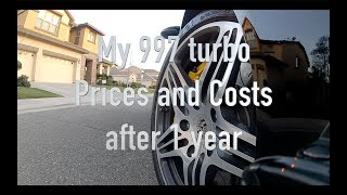 My Porsche 997 turbo costs of ownership after 1 year