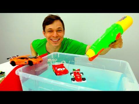 Фёдор и Тачка Молния Маквин строят Бассейн для машинок!
