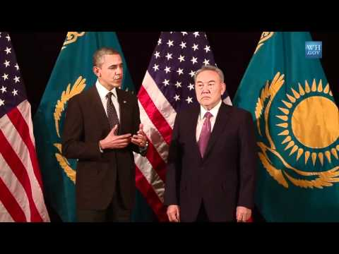 Kazakhstan President Nazarbayev and U.S. President Obama Discuss Current Nuclear State