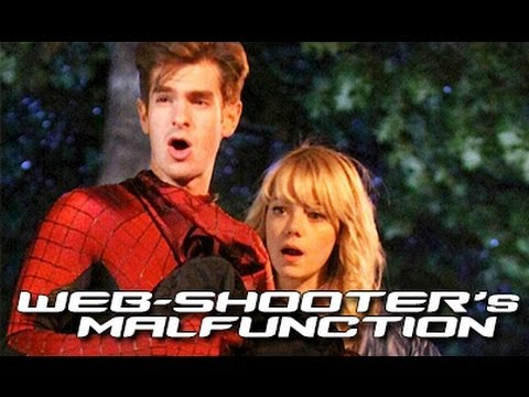 Gwen Charging Web-Shooters On-Set Photos 'The Amazing Spider-Man 2'