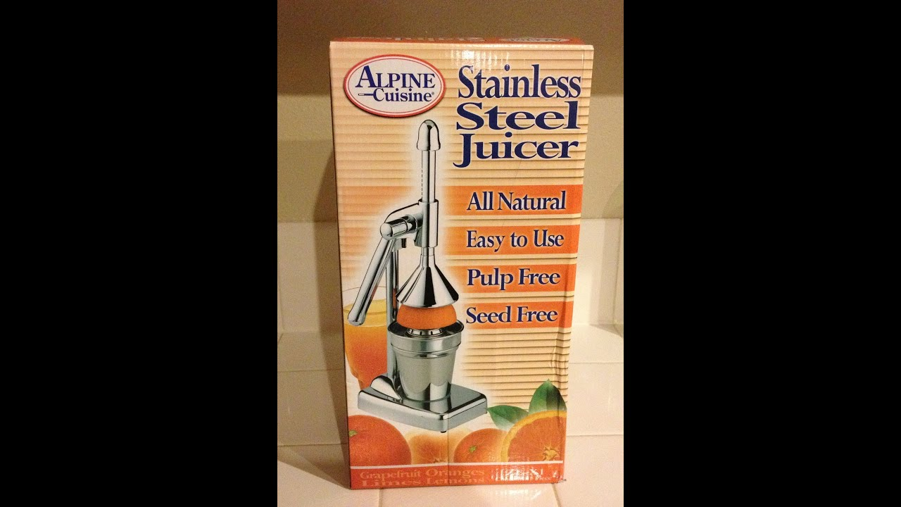 alpine cuisine stainless steel juicer youtube