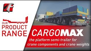 FAYMONVILLE CargoMAX - the platform semi-trailer for crane components and crane weights