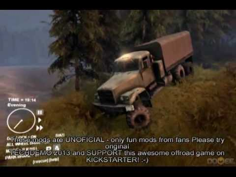 Spin Tires ( SPiNTiRES ) 2013 - new addons for KRAZ mod ;)