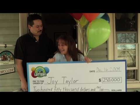 Colorado Lottery $250,000 2nd Chance Winner - We Prize Surprised Joy Taylor with $250,000 in our Second-Chance Drawing for Dynamite Dollars.
