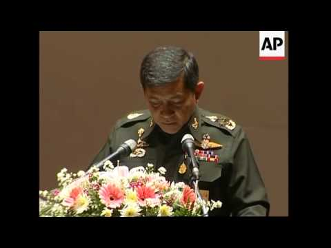 Coup leader Gen Sondhi holds news conference 3 months after coup