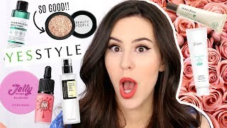 $500 OF KOREAN MAKEUP & SKINCARE FROM YESSTYLE || Beauty with Emily Fox