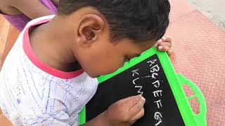 Write alphabets A-Z Capital Letters ABCD - Little Master Gajendraa L.K.G.