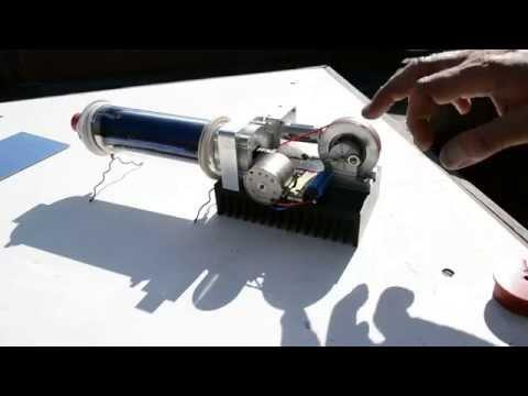 Solar evacuated mini tube & Stirling engine