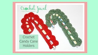 Crochet Candy Cane Holder Tutorial