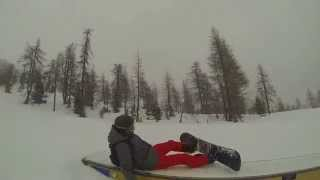 Ass slide - Snowboard FAIL