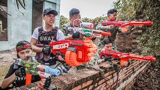 LTT Nerf War : Police patrol SEAL X Warriors Nerf Guns Fight Criminal Group Use Nerf Mod