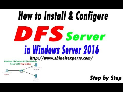 How to Configure DFS Namespaces Server (Distribution File System) in Windows Server 2016